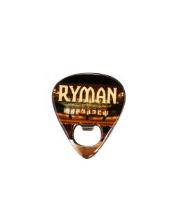 Ryman Guitar Pick Bottle Opener Magnet