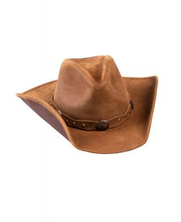 Distressed Leather Cowboy Hat