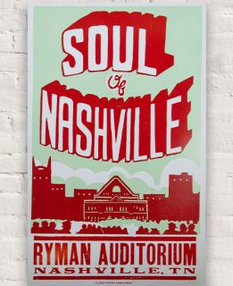 Soul of Nashville Hatch Show Print