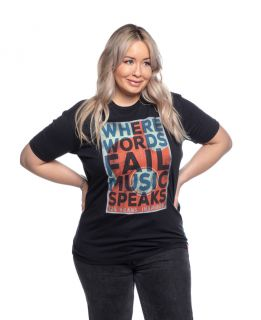 Ryman Unisex Where Words Fail Music Speaks Tee