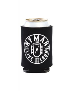 Ryman Black Logo Can Cooler