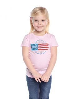 Youth Girls Ryman Circle Flag Tee