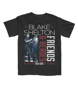 Blake Shelton Unisex Short Sleeve Friends and Heroes Tee