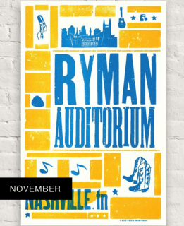 Ryman November 2018 Hatch Show Print
