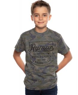 Ryman Youth Camo Badge Tee