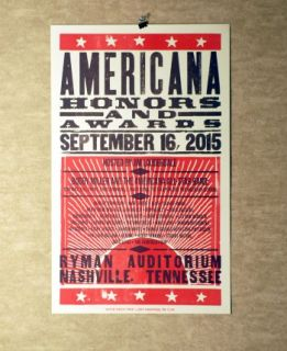 2015 Americana Honors & Music Awards Hatch Show Print
