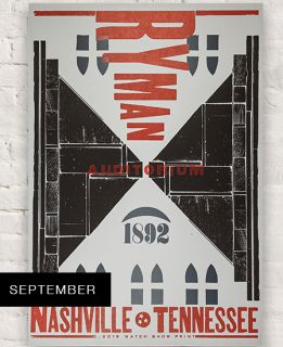 Ryman 2019 September Hatch Show Print