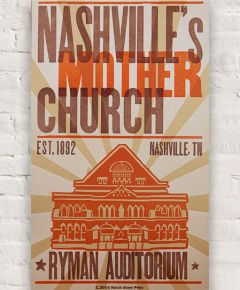 Nashville's Mother Church Hatch Show Print
