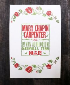 Mary Chapin Carpenter Hatch Show Print